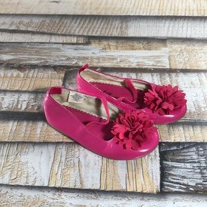 Old Navy Toddler Girls Size 10 Flower Shoes